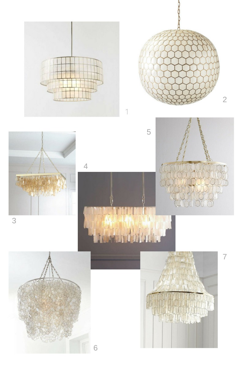 7 Gorgeous Capiz Shell Chandeliers