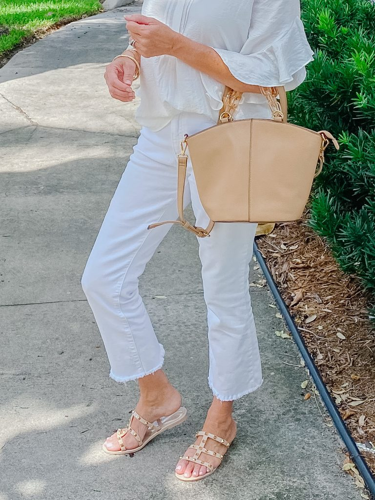 White Jeans For Date Night! 5 outfit ideas for women over 50.