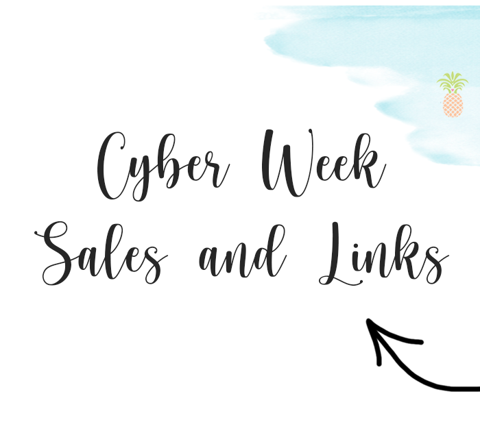 cyber week sales and links